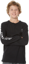 Hurley Boys Skele Surfer Ls Tee Black