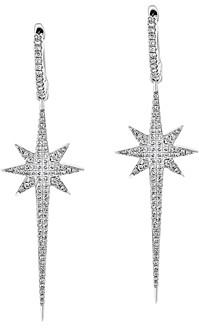 Bloomingdale's Pave Diamond Starburst Drop Earrings in 14K White Gold, 0.55 ct. t.w. - 100% Exclusive