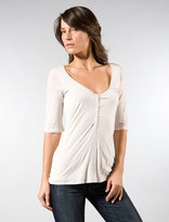 Pearl Button Henley