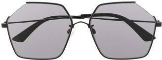 McQ Swallow Hexagonal-Frame Sunglasses
