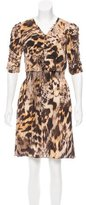 Yigal Azrouel Silk Leopard Print Dress w/ Tags