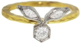 Cathy Waterman Diamond Marquise and Bezel Ring