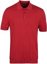 Aquascutum Red Howard Cotton Polo Shirt