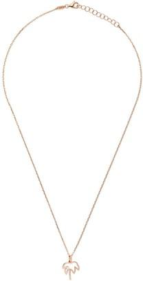 As 29 14kt rose gold Miami palm tree diamond pendant necklace