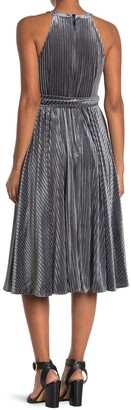 Ted Baker Velvet Halter Sleeveless Midi Dress