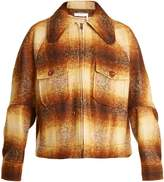 Chloé Patch-pocket checked mohair-blend jacket