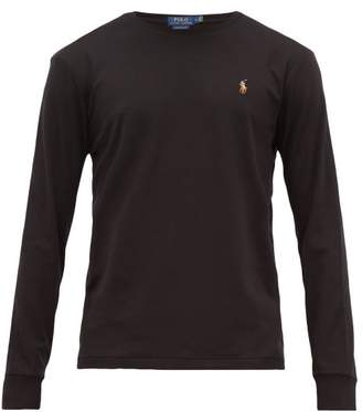 Polo Ralph Lauren Logo-embroidered Cotton Long-sleeved T-shirt - Mens - Black