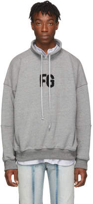 Fear Of God Grey Mock Neck FG Sweatshirt