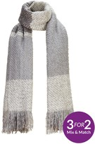 Very Lurex Thread Blanket Scarf - Grey