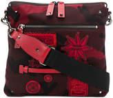 Valentino Rockstud badge embellished messenger bag