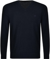 Michael Kors V Neck Jumper Navy