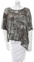 Torn By Ronny Kobo Walker Tiger Print Top w/ Tags