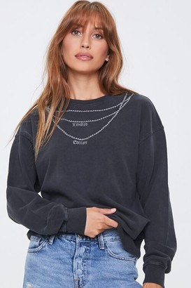 Forever 21 Embroidered Limited Edition Pullover