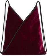 MM6 MAISON MARGIELA Burgundy Velvet Backpack