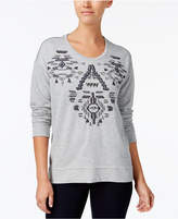 Style&Co. Style & Co Style & Co Petite Embellished Embroidered Sweatshirt, Created for Macy's