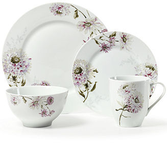Mikasa Dinnerware, Silk Floral Lavender 4 Piece Place Setting