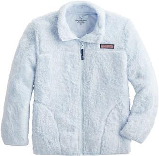 Vineyard Vines Girls Plush Teddy Fleece Full Zip Jacket