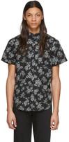 Naked & Famous Denim Denim Denim Black Floral Sketch Shirt