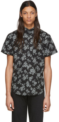 Naked & Famous Denim Denim Black Floral Sketch Shirt