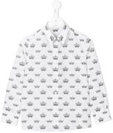 Dolce & Gabbana crowns print shirt - kids - Cotton - 2 yrs