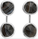 Monica Vinader Siren jacket sterling silver and black onyx earrings