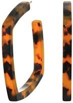J.Crew Square Acetate Hoops Earrings (Tortoise) Earring