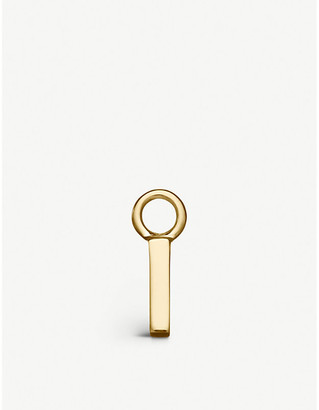 Selfridges Alphabet Hoop I gold charm