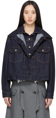 Sacai Blue Denim Double-Layer Jacket