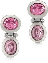 Forzieri Pink Crystal Earrings