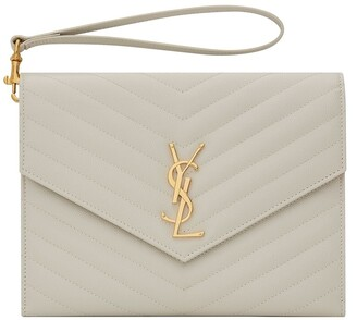 Saint Laurent Monogram Quilted Clutch Bag