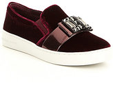 MICHAEL Michael Kors Michelle Velvet Rhinestone Ornament Slip-On Sneakers