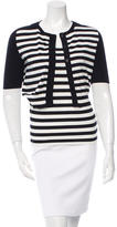 Akris Punto Striped Short Sleeve Cardigan Set