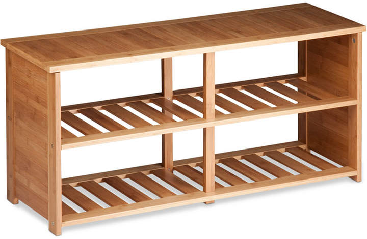 Honey-Can-Do Shoe Bench, Bamboo