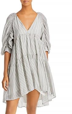 Frame Shirred Babydoll Dress
