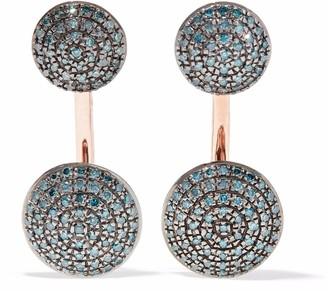 Monica Vinader Stellar Rose Gold-plated Diamond Earrings
