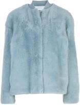 Jil Sander shearling bomber jacket