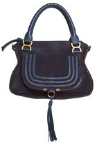 Chloé 'Medium Marcie' Suede Satchel - Blue