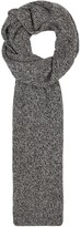 Johnstons Of Elgin Grey Mélange Cashmere Scarf