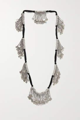 Saint Laurent Marrakech Cord And Silver-tone Necklace