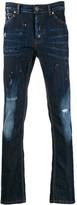 John Richmond distressed detail slim-fit jeans