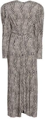 Isabel Marant Telena Printed Long-Sleeve Dress