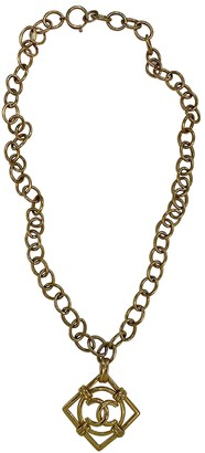 Chanel Gold Metal Long necklaces