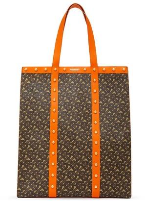 Burberry E-canvas monogram tote bag