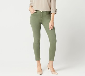 JEN7 by 7 For All Mankind Ankle Skinny Jeans Rel Hem Fatigue