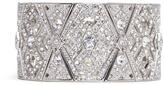 Kenneth Jay Lane Glass crystal pavé geometric plate elastic cuff