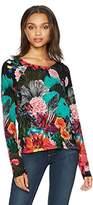 Desigual Women's Hawai Woman Flat Knitted Thin Gauge Pullover, Black, M