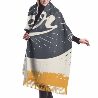 Gong A Bottle of Beer Women Soft Cashmere Wool Scarf Large Pashminas Shawl Wrap Warm Stole Blanket