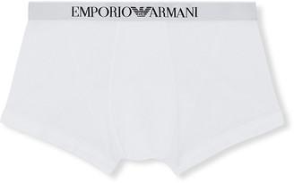 Emporio Armani Men's Solid Logo-Print Boxer Briefs
