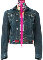 DSQUARED2 layered denim jacket - women - Cotton/Spandex/Elastane - 40