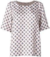 Alberto Biani Tie-print Silk Blouse